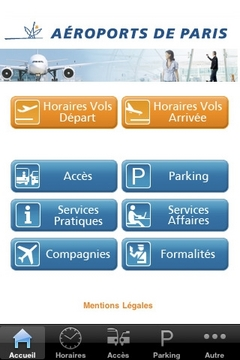 My Airport, Aéroports de Paris iPhone Application
