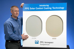 PPG Aerospace NBAA Display Shows Gold, Silver Solar-Reflective Window Coatings
