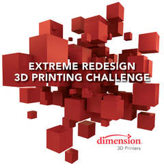 "Runners Up Announced in ""Extreme Redesign"" Contest by Dimension 3D Printing"