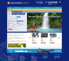 Sun Country Airlines Redesigns Website