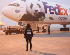 "Chinese Pandas Touch Down in Paris on the ""FedEx Panda Express"""